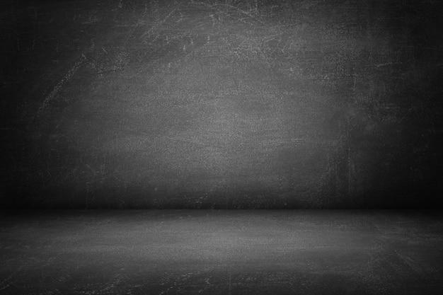 Donkere textuur schoolbord kamer en studio muur