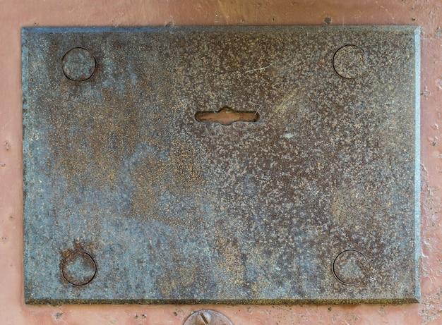 Donkere verroeste metalen textuur
