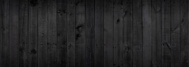Donkere zwarte houten achtergrond die afkomstig is van natuurlijke bomen.