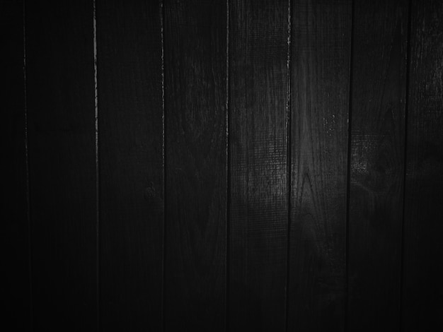 Donkere zwarte houten textuurachtergrond.