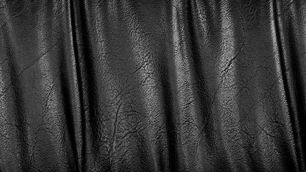 Donkere zwarte leer en textuurachtergrond.