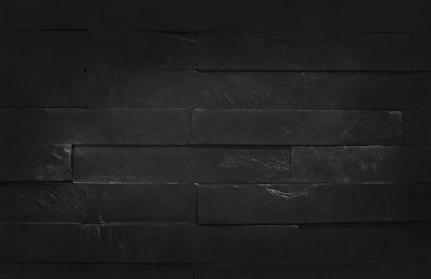 Donkergrijs zwarte leisteen textuur met hoge resolutie, achtergrond van natuurlijke zwarte stenen muur.