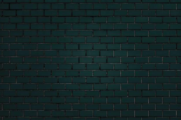 Donkergroene bakstenen muur geweven