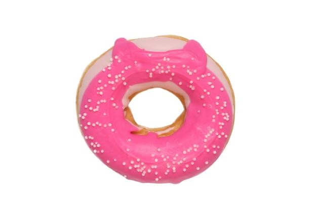 Donut geïsoleerd op een witte achtergrond.