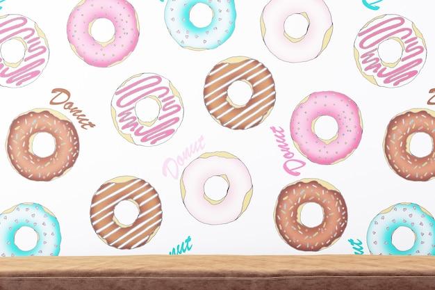 Donuts achtergrond en bank