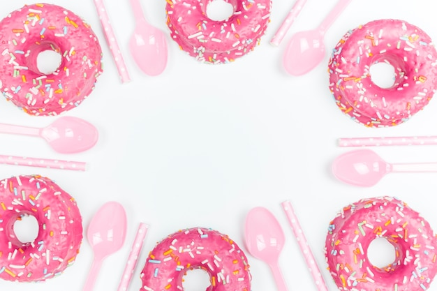 Donuts en lepels