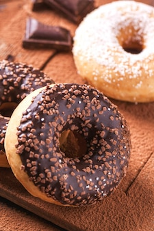 Donuts met chocolade