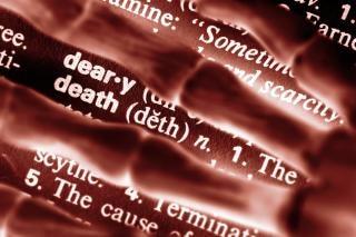 Dood finition foto