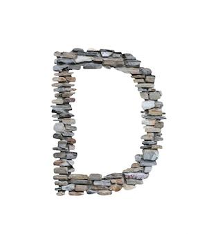 Doopvont van d om van steenmuur te creëren die op wit wordt geïsoleerd.
