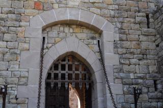 Door kasteel, deur
