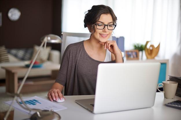 Door thuis te werken kan ik flexibel werken