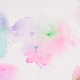 Doorzichtige vlek van kleurrijk pigment