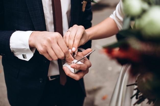 Doosje voor trouwringen