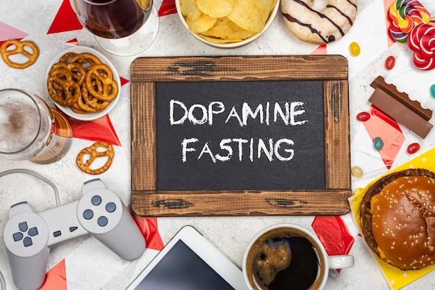 Dopamine vasten achtergrond