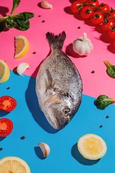 Dorado vis, citroen, knoflook en cherrytomaatjes