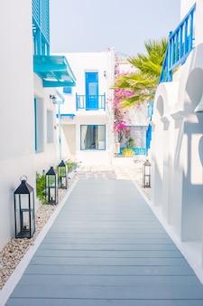 Dorp bougainvillea cycladen alley griekenland