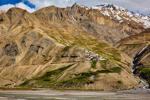 Dorp in de himalaya