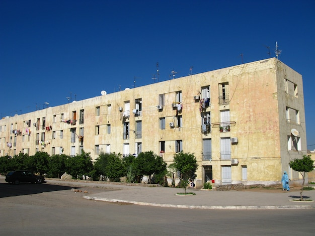 Dorp in de saharawoestijn, marokko
