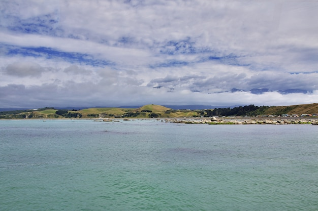 Dorp kaikoura op zuidereiland, nieuw-zeeland