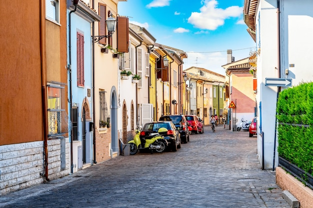 Dorp van vissers san giuliano in rimini, italië.