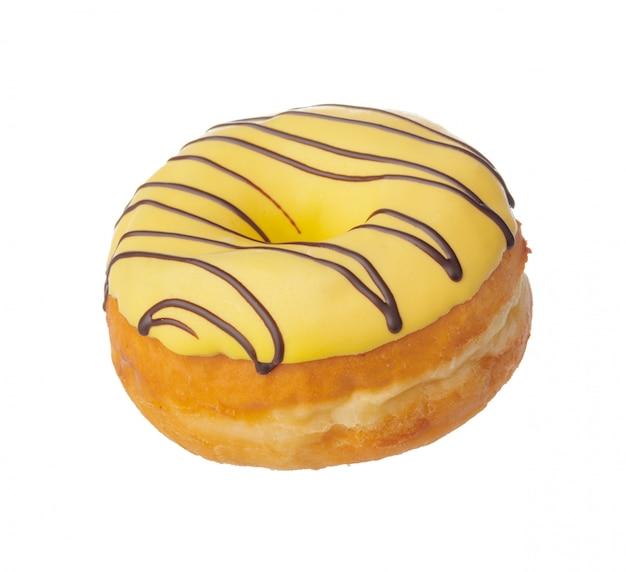 Doughnut op wit wordt geïsoleerd dat
