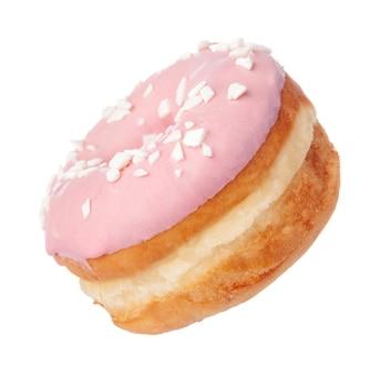 Doughnut op witte achtergrond
