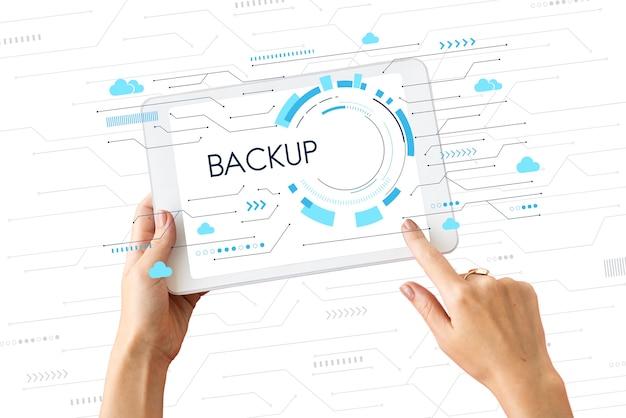 Download netwerk voor cloudback-up