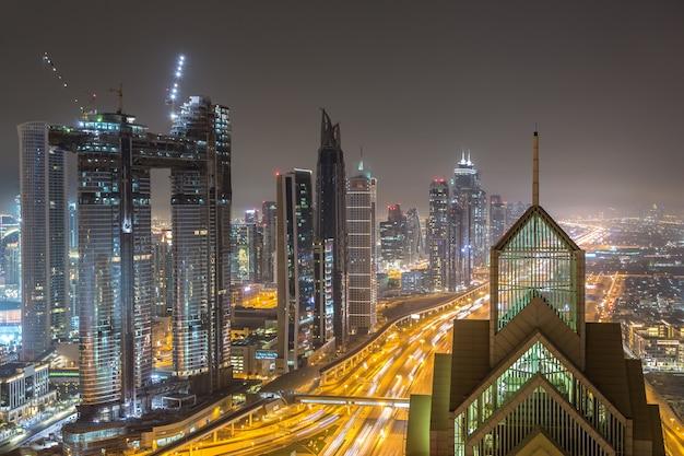 Downtown dubai 's nachts