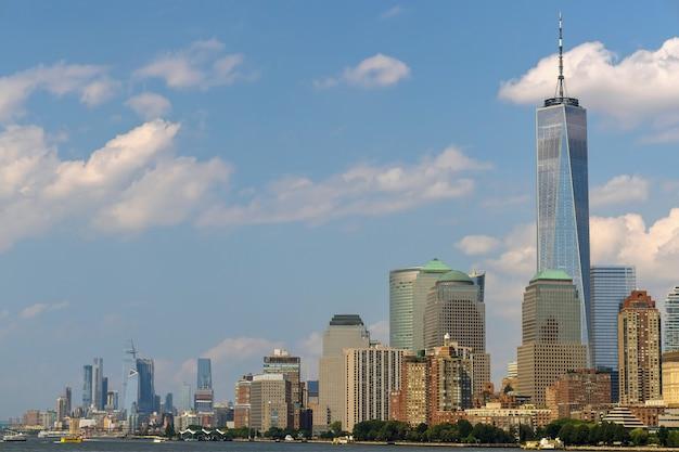 Downtown lower manhattan zakelijke district wolkenkrabbers in new york city of america