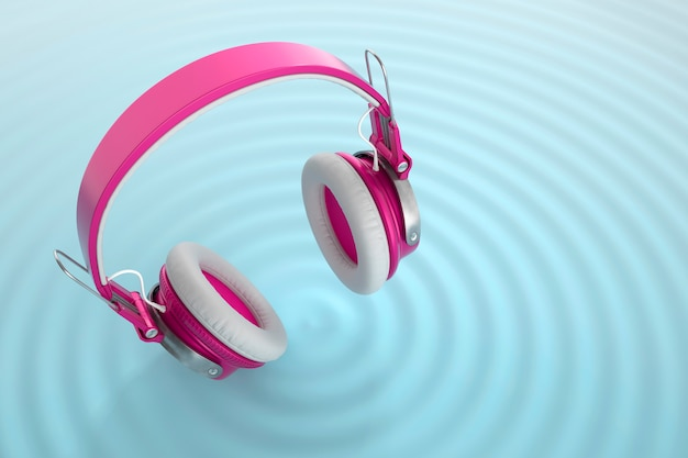 Draadloze hoofdtelefoon met audiogolven