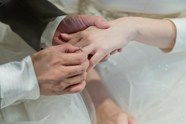 Draag een ring, trouwring, liefdespaar