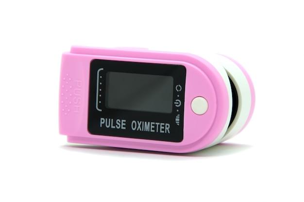 Draagbare digitale vingertop-pulsoximeter.