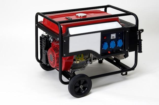 Draagbare elektrische generator geïsoleerd