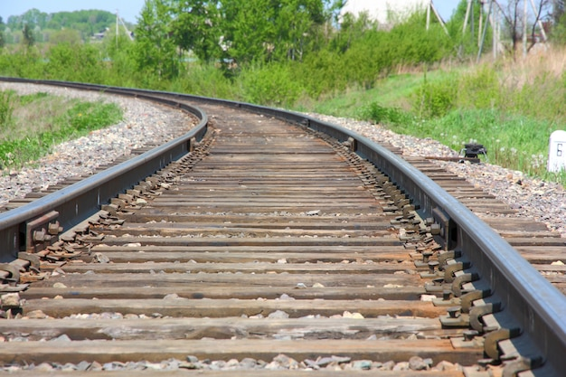 Draai de rail en laat de afstand over