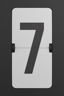 Draai het zwarte scorebordnummer om. 3d