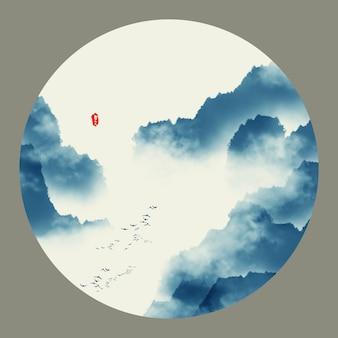 Drager schets china landschap klassiek