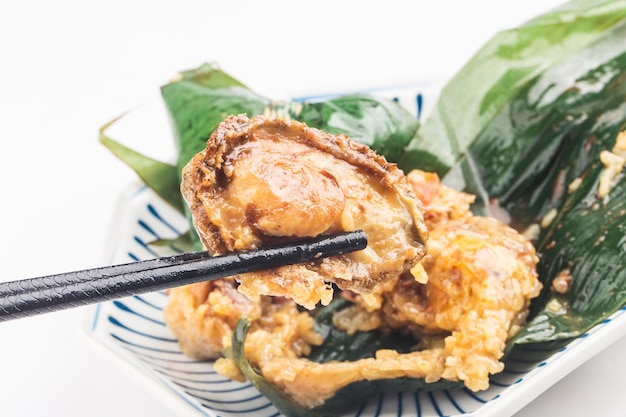 Dragon boat festival chinese rijst knoedel vlees zongzi