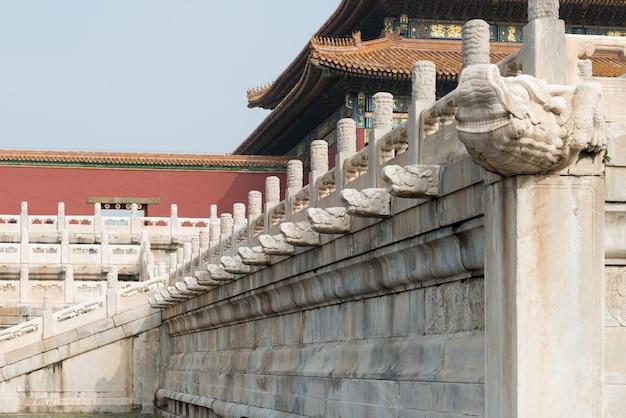 Drainagesysteem bij verboden stad in peking, china.