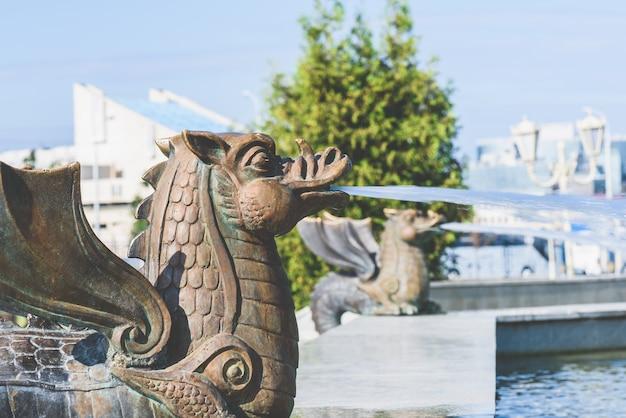 Drakenfontein in het park van de stad kazan