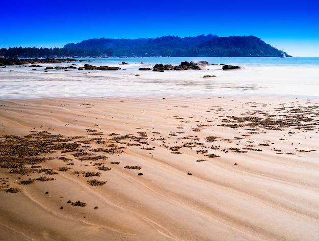 Dramatische indiase strandlandschap achtergrond hd