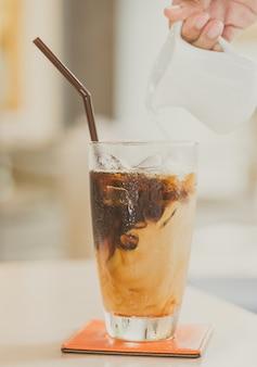 Drank versheid bevroren ijs milkshake