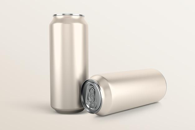 Drankblikjes set, blanco aluminium verpakking