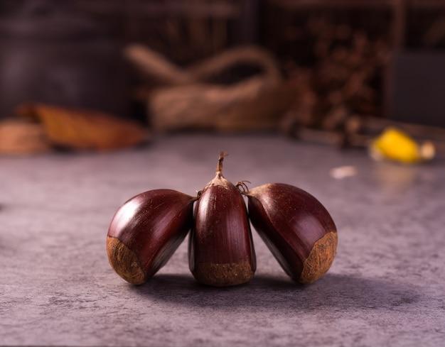 Drie chesnuts bekijken
