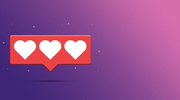Drie harten op tekstballon