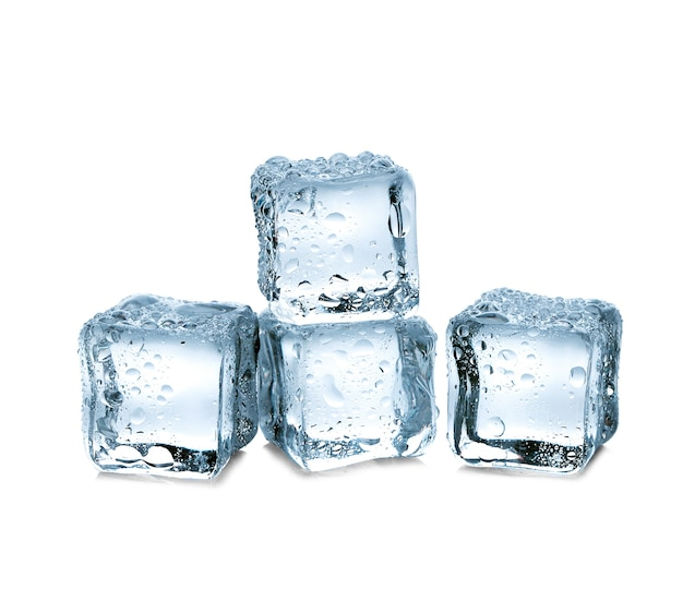 Drie ijsblokjes