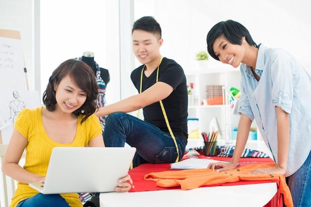 Drie jonge ontwerpers