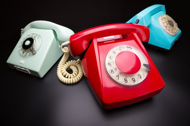 Drie oude telefoons