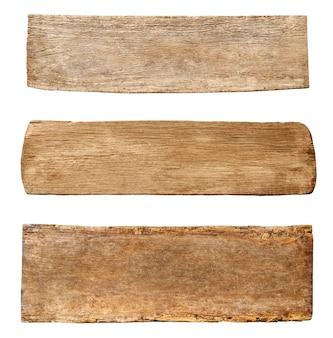 Drie soorten hout.