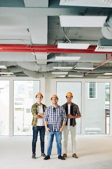 Drie succesvolle ingenieurs