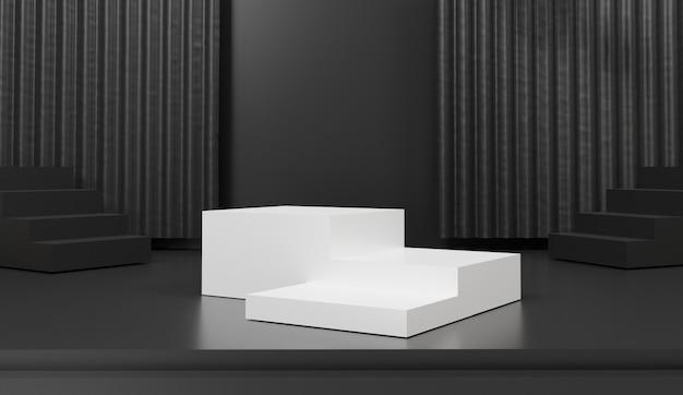Driedimensionaal geometrisch podium voor productpresentatie